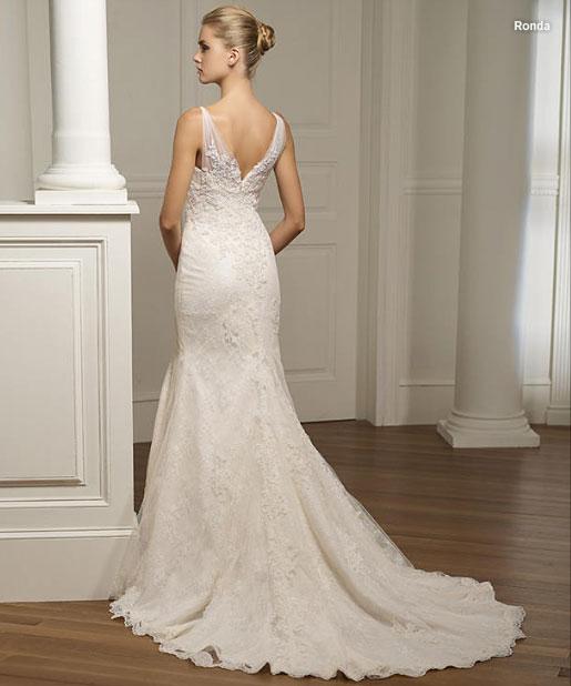 Свадебные платья, элегантный стиль, кружево: Pronovias